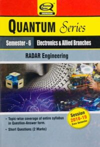 Quantum Series Radar Engineering BTech 6th Sem Electronics And Allied Branches