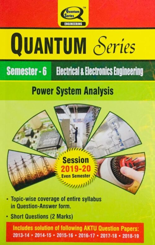 Quantum Series Power System Analysis BTech 6th Sem Electrical And Electronics Engineering