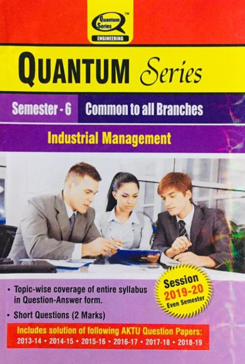 Quantum Series Industrial Management BTech Common to All Branches