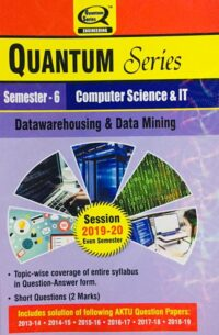 Quantum Series Datawarehousing And Data Mining BTech 6th Sem Computer Science And IT
