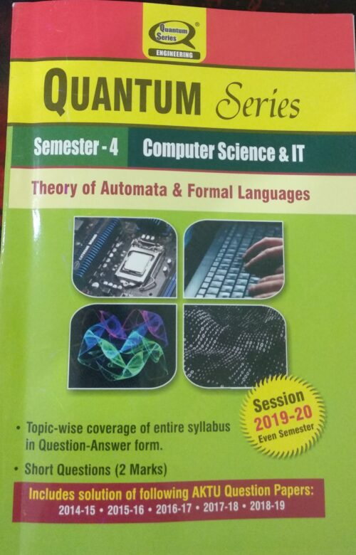 Quantum Theory of Automata And Formal Languages CS IT 4th Sem Computer Science