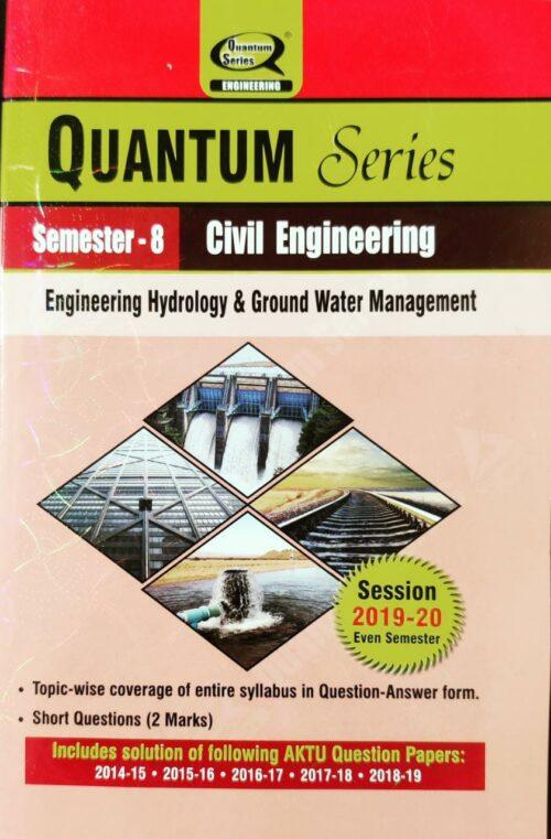 Engineering Hydrology and Ground Water Management Quantum B Tech 8th Sem Civil