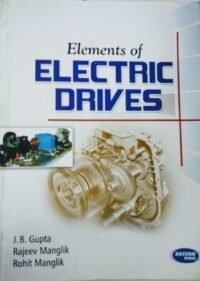Katson Elements of Electric Drive by J B Gupta