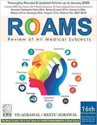ROAMS Review of All Medical Subjects 16th Ed by V D Agarwal