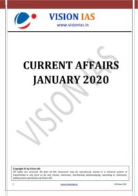 Vision IAS January 2020 Current Affairs PDF Free