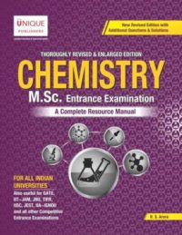 Chemistry M Sc Entrance Examination by R S Arora