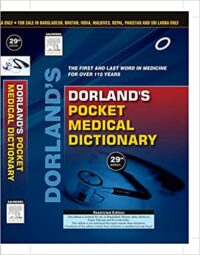 Dorlands Pocket Medical Dictionary 29th Editon