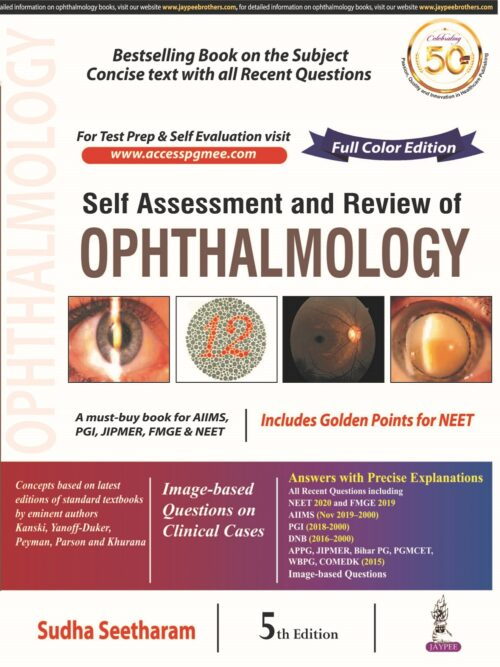 Review of Ophthalmology Sudha Seetharam 5th Latest Edition