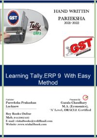 Tally.ERP 9 GST A Complete Bilingual Book 2021-22 Latest Edition