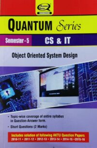 object Oriented System Design 5th Semester