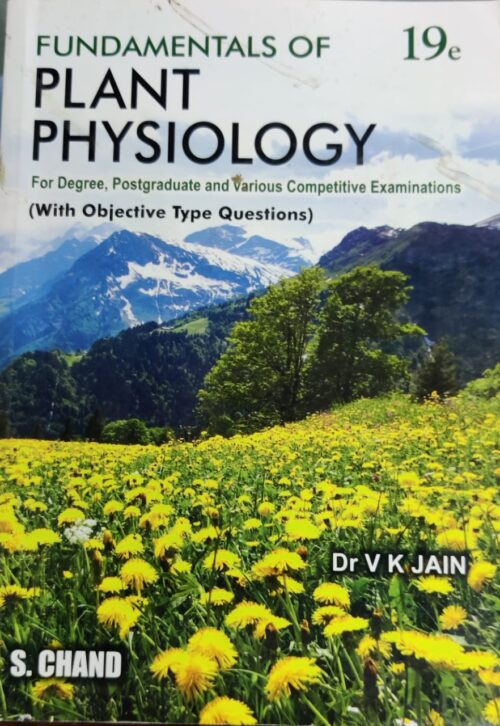 Plant Physiology By V K Jain 19th Edition