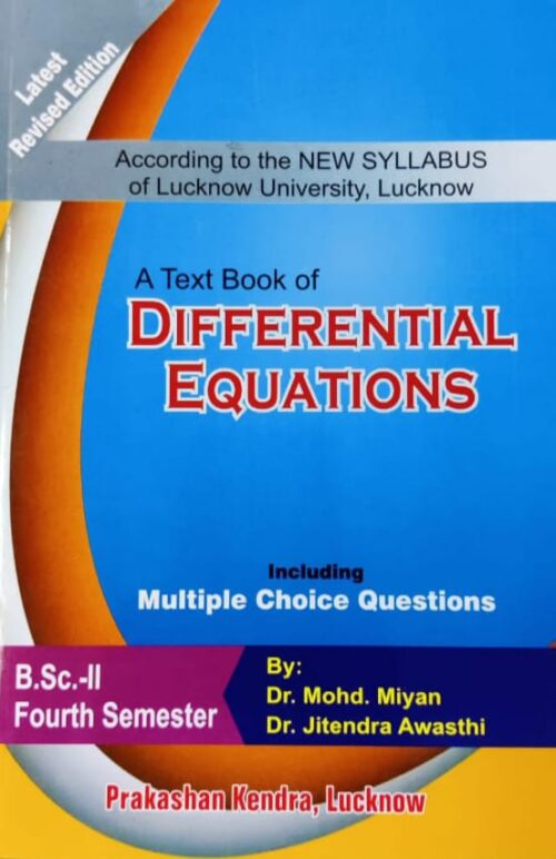 Differential Equations By Mohd Miyan BSc 4th Sem