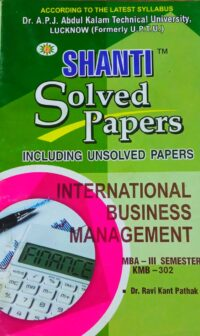MBA 3rd Sem Shanti International Business Management Solved Papers