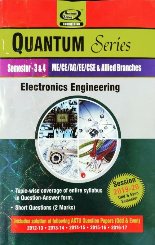 Electronics Engineering Quantum Series For BTech 3rd and 4th Sem 2020