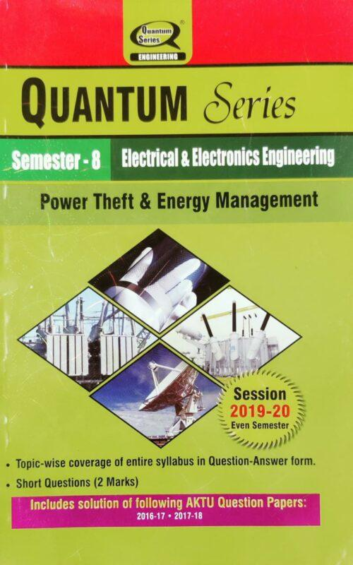 Quantum Series Power Theft and Energy Management Electrical and Electronics 8th Sem AKTU
