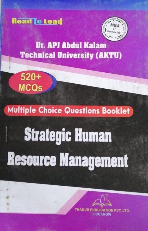 MBA 4th Semester Thakur MCQs Strategic Human Resource Management New Edition 2020
