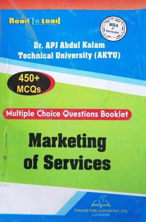MBA 4th Semester Thakur MCQs Marketing of Services New Edition 2020