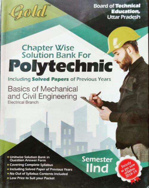 Gold Question Bank Polytechnic Basic of Mechanical And Civil Engineering Sem 2nd