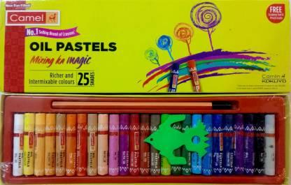 Camlin Oil Pastels 25 Shades with Drawing Pencil