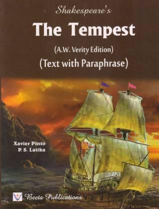 The Tempest For ISC 12th By Xavier Pinto