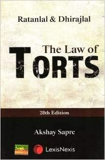 The Law of Torts by Dhirajlal 28th Edition Publisher: Lexis Nexis → Author Dhirajlal And Ratanlal Publication Date: 1 January 2020 Edition: 28th ASIN  : B08D8FLFDY Language  : English