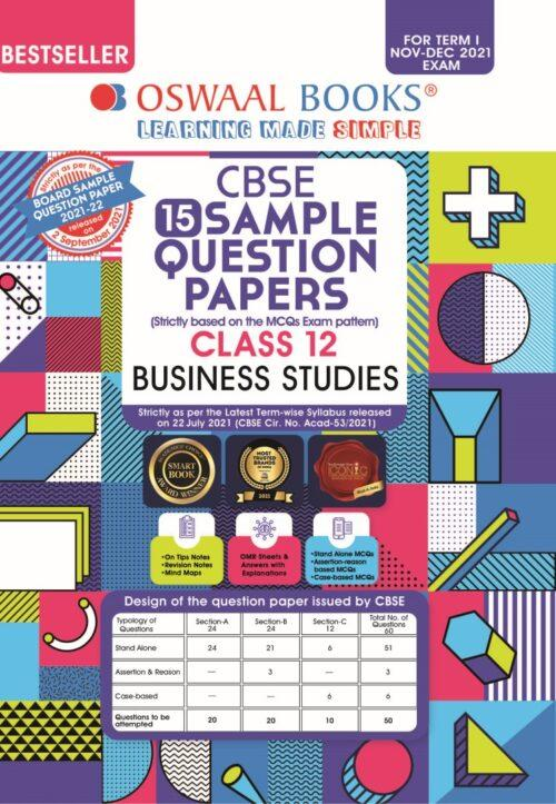 Oswaal CBSE Class 12th Business Studies Sample Question Paper 2021