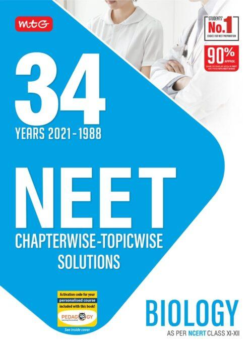 NEET Biology 34 Years Solved Question Papers 2021