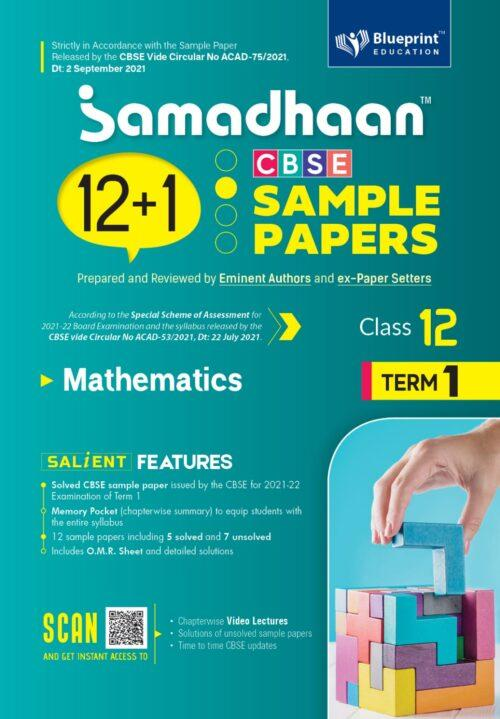 Samadhaan CBSE Mathematics Sample Papers For Class 12th Term 1 2021 to 2022
