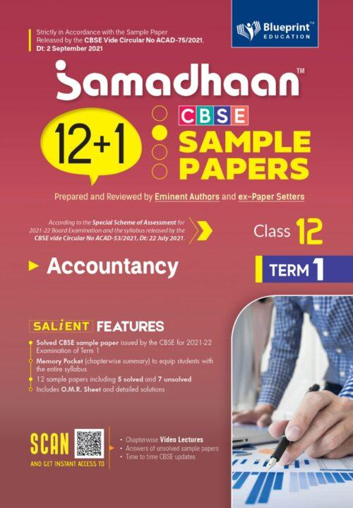 Samadhaan CBSE Accountancy Sample Papers For Class 12th Term 1 2021 to 2022