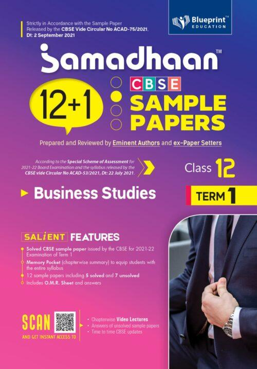 Samadhaan CBSE Business Studies Sample Papers For Class 12th Term 1 2021 to 2022