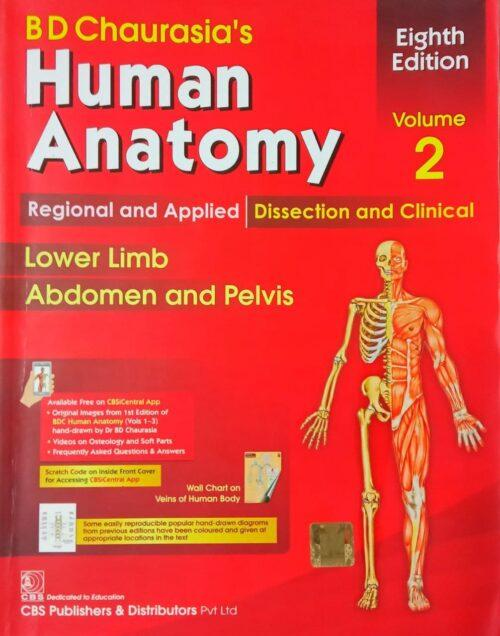 Second Hand Human Anatomy Eight Edition 2nd Volume By B D Chaurasia